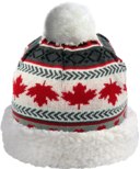 Pudus Hat Maple Leaf Grey Adult