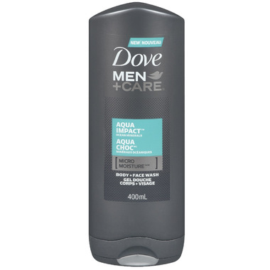 Dove Men +Care Aqua Impact Micro Moisture Body + Facewash