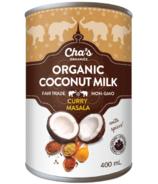 Cha's Organics lait de coco épicé au curry masala