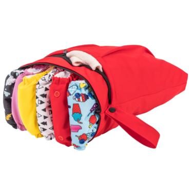 Funky Fluff Double Pocket Wet Bag Love Bug