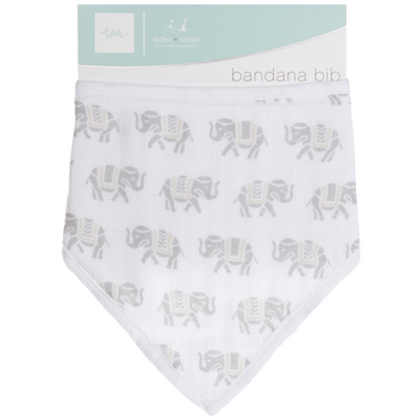 aden + anais x tea Bandana Bib Savanna Animals Elephants