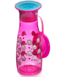 Wow Cup Mini 360 Spill-Free Cup with Lid Pink Elephants