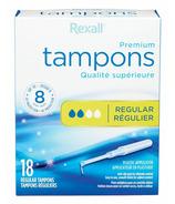 Rexall Plastic Applicator Tampons Regular