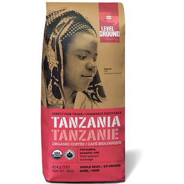 Level Ground Tanzania Organic Dark Roast Coffee Beans