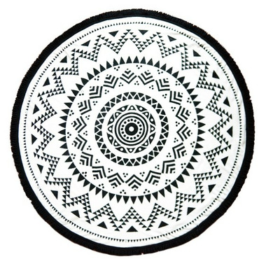 Tofino Towel The Long Beach Black Round Towel