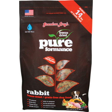 Grandma Lucy\'s Pureformance Rabbit Freeze-Dried Grain-Free Dog Food