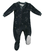 ZippyJamz Footed Sleeper Galaxie Love Navy