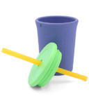 Silikids Silicone Straw Cup Grey