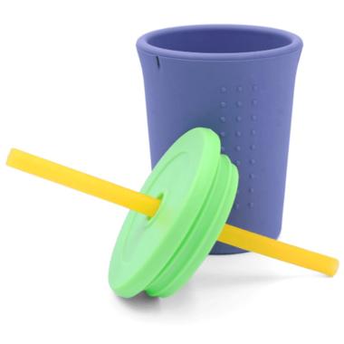 Silikids Silicone Straw Cup Grey