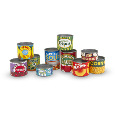 Melissa & Doug Let\'s Play House! Grocery Cans