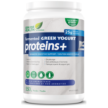 Genuine Health Fermented Greek Yogurt Proteins+ Protein Powder Unflavoured