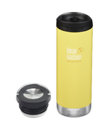 Klean Kanteen TKWide Buttercup Traveler + Loop Cap Bundle