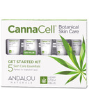 ANDALOU naturals CannaCell Botanical Skin Care Get Started Kit