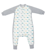 Nest Designs Bamboo Long Sleeve Cozy Sleep Suit Narwhal 2.5 Tog
