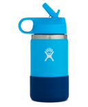 Hydro Flask Kids Wide Mouth 2.0 with Straw Lid Pacific Cobalt