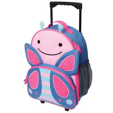 Skip Hop Zoo Kids Rolling Luggage Blossom Butterfly