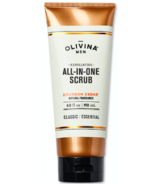 Olivina Men Exfoliating All-in-One Scrub Bourbon Cedar 6.5 oz