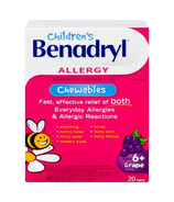 Benadryl Kids Grape Chewable Tablets