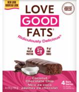 Love Good Fats Barres Pépites De Chocolat et Noix De Coco