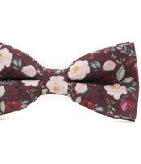 Mini Swag Wine Floral Bow Tie