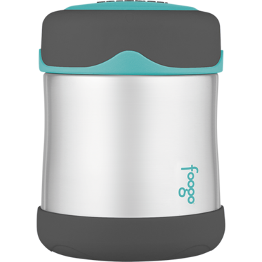 Foogo Vacuum Insulated Food Jar Teal & Smoke