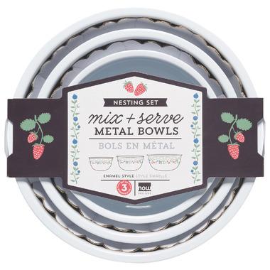 Now Design Bowl Set Mix & Serve Berry Patch