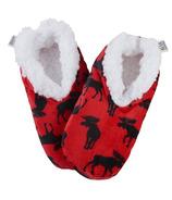 Chaussons chauds et douillets pour enfants Hatley Moose On Red
