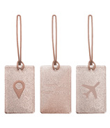 MYTAGALONGS Odessey Luggage Tag Set Rose Gold