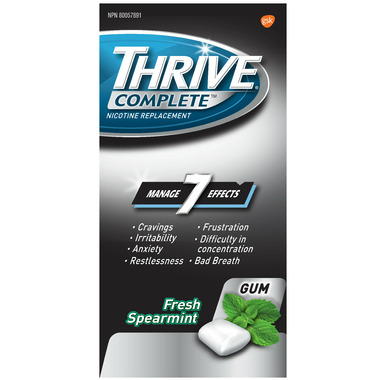 Thrive Complete Nicotine Replacement Gum 4mg Fresh Spearmint