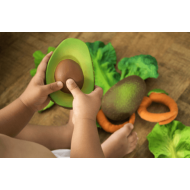 Oli and Carol Arnold the Avocado Toy Teether