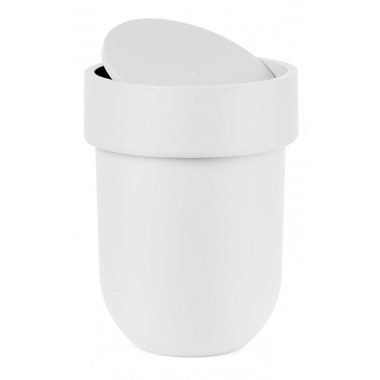 Umbra Touch Waste Can With Lid White