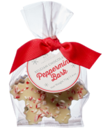 Saxon Chocolates Peppermint Bark Snowflakes