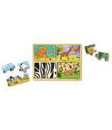 Melissa & Doug Natural Play Wooden Puzzle Animal Patterns