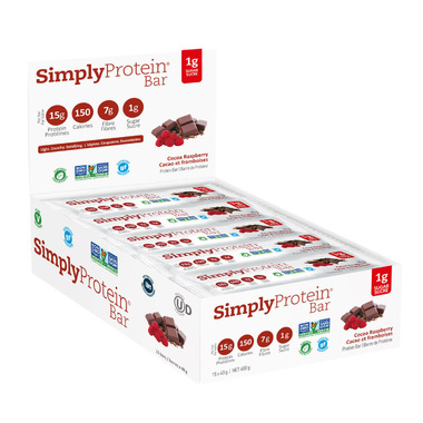 Simply Protein Bar Cocoa Raspberry Case