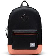 Herschel Supply Heritage Youth X-Large Black Sparkle/Neon Peach