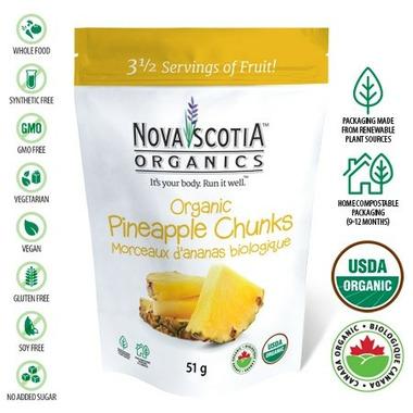 Nova Scotia Organics Organic Pineapple Chunks