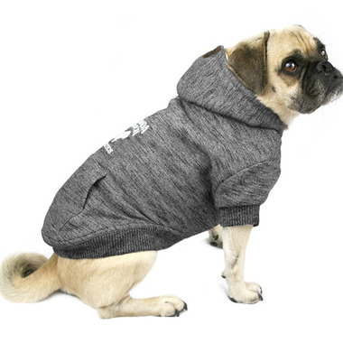 Canada Pooch Cozy Caribou Hoodie in Marled Grey Size 24