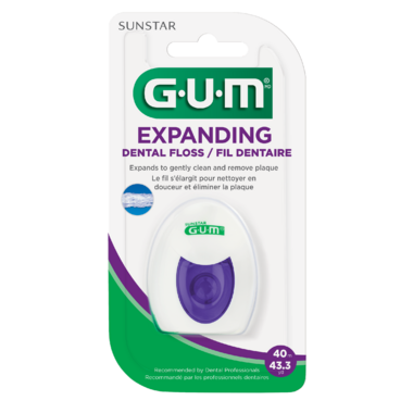 GUM Expanding Waxed Dental String Floss
