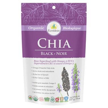 Ecoideas Organic Black Chia Seeds