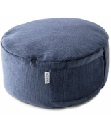 B Yoga B Calm Mod Cushion with Removable Cover Royal Suede
