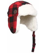 Kombi The Hip Aviator Hat Children Red Buffalo Plaid