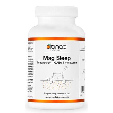 Orange Naturals Sleep With Magnesium + GABA & Melatonin