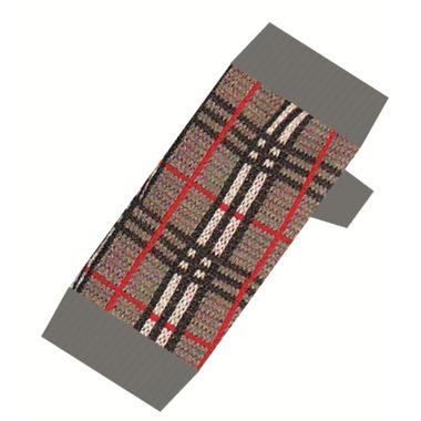 Burgham Double Knit Designer Sweater B-Berry Check Pattern Grey