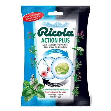 Ricola Action Plus Glacier Mint Lozenges