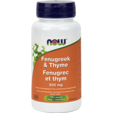 NOW Foods Fenugreek & Thyme 500 mg