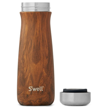 S\'well Teakwood Stainless Steel Wide Mouth Traveler Bottle