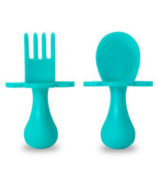 Grabease First Spoon and Fork Set Teal