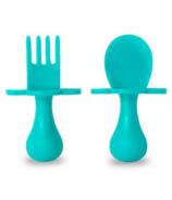 Ensemble premières cuillère et fourchette couleur sarcelle de Grabease