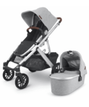 UPPAbaby VISTA V2 Stroller STELLA Grey Melange Silver Chestnut Leather
