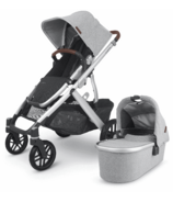 UPPAbaby VISTA V2 Stroller STELLA Grey Melange Silver Chestnut Leather